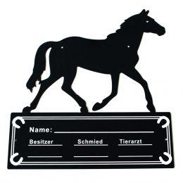 Stalltafel im Pferdemotiv
