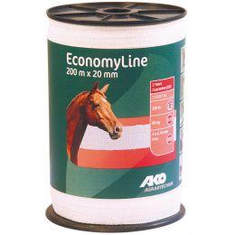 Weidezaunbreitband 20mm 200m Rolle Economy Line Weideband